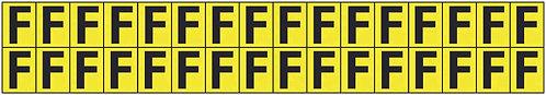 19x14mm Vinyl Cloth Letters Card F