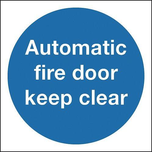 100x100mm Automatic Fire Door Keep Clear - Rigid