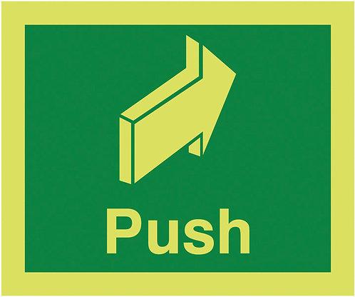 150x125mm Push - Nite Glo Self Adhesive