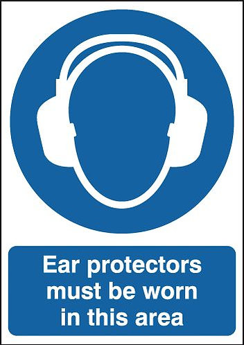 210x148mm Ear Protectors Must Be Worn In This Area Must Be Worn - Rigid
