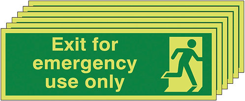 150x450 6 pack 150x450 Exit For Emergency Use Only - Nite Glo Rigid