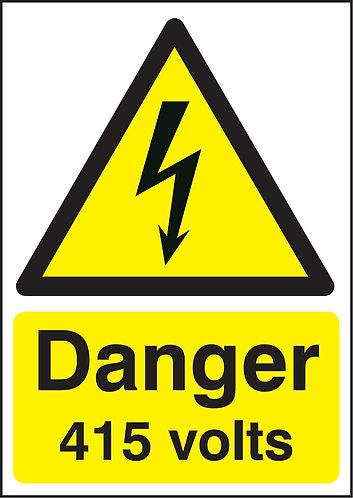 210x148mm Danger 415 volts - Self Adhesive
