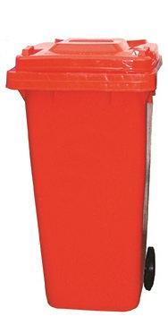 120 Litre Wheeled Bin - Red