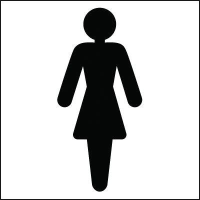 150x150mm Ladies Toilet symbol - Rigid