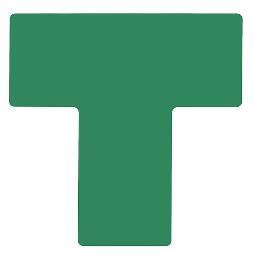 """2"""" X 5"""" Green Floor Ts Pack of 20"""