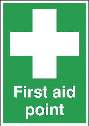 210x148mm First Aid Point - Rigid