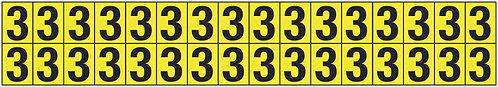 19x14mm Vinyl Cloth Numbers Card 3