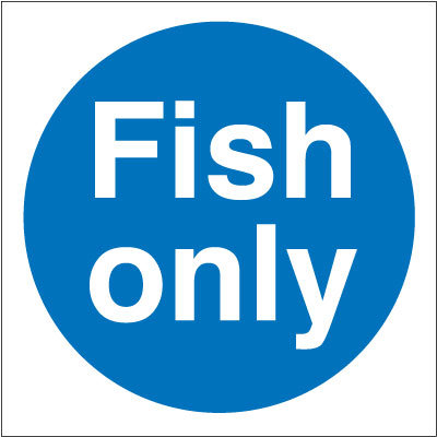 100x100mm Fish Only - Self Adhesive Only
