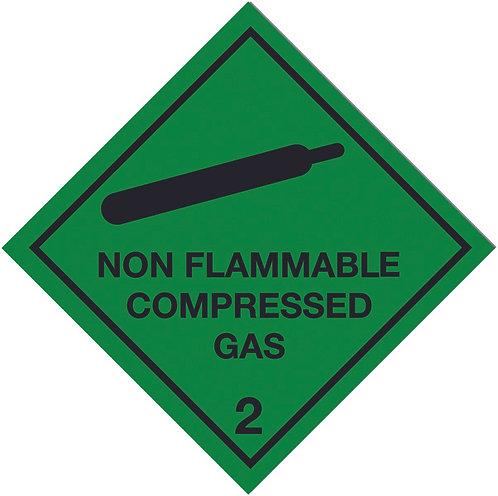 100x100mm Non Flammable Compressed Gas Self Adhesive Hazard Warning Diamonds