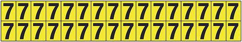 19x14mm Vinyl Cloth Numbers Card 7