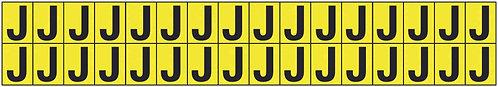 19x14mm Vinyl Cloth Letters Card J