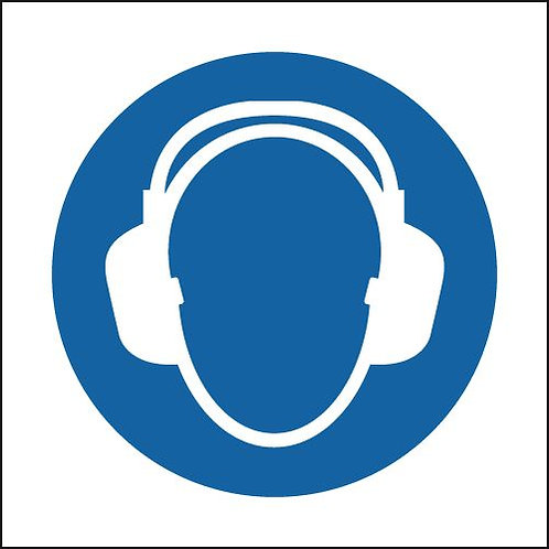 150x150mm Hearing Protection Symbol - Rigid