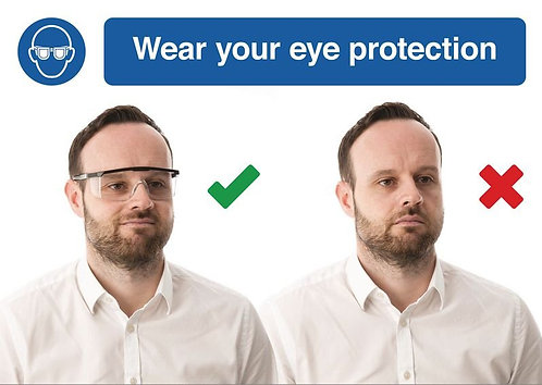 210 x 297mm Wear your eye protection - Self Adhesive