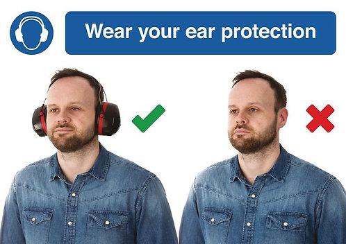 210 x 297mm Wear your ear protection - Rigid
