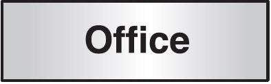 102x305mm Office Architectural Door Sign Left Aligned