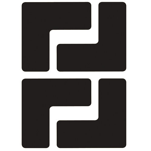 "2"" X 5"" Black Floor Ls Pack of 20"