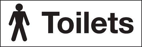 100x300mm Male toilets - Rigid