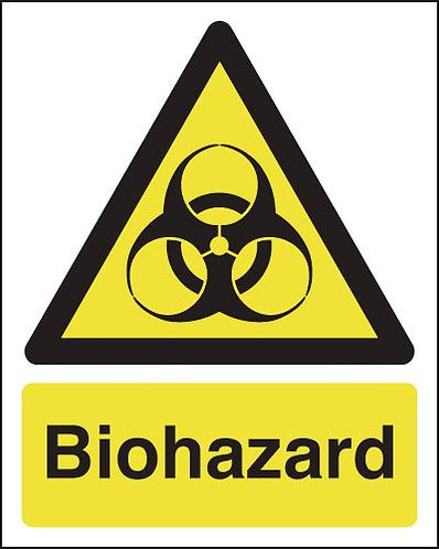 210x148mm Biohazard - Rigid