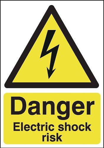 210x148mm Danger Electric Shock Risk - Rigid