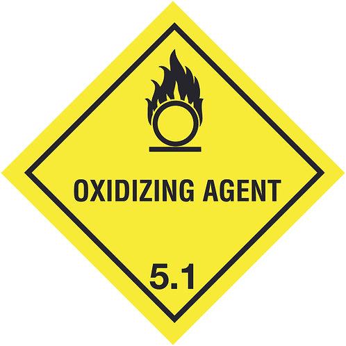 100x100mm Oxidizing Agent Symbol Only Hazard Warning Diamond Roll of 310