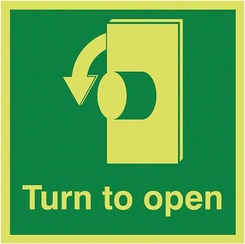 125x125mm Turn To Open Anti-Clockwise - Nite Glo Rigid