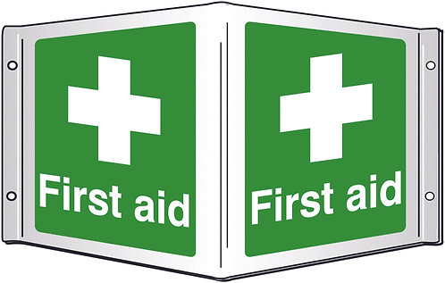 200x400mm First aid Projecting 3D Sign