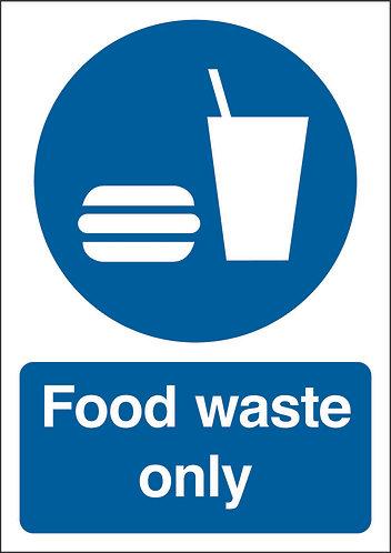 210x148mm Food waste only - Rigid
