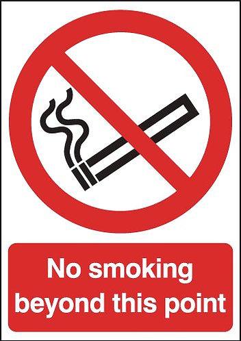 210x148mm No Smoking Beyond This Point - Rigid