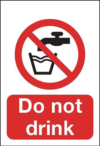 100x75mm Do Not Drink - Self Adhesive