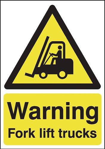 210x148mm Warning Forklift Trucks - Self Adhesive