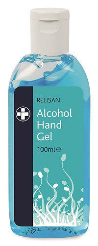 100ml Relisan Hand Gel - Pk of 5