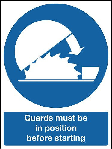 100x75mm Guards Must Be In Position Before - Rigid