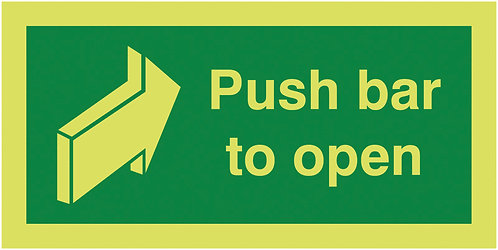 100x200mm Push Bar To Open - Xtra Glo Self Adhesive