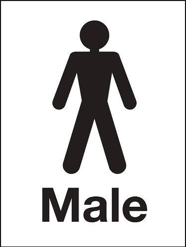 200x150mm Male Washroom sign - Rigid