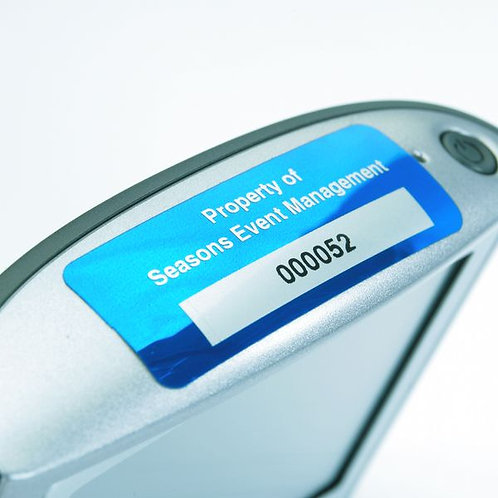 19 x 51mm Duraguard Asset Tags without Barcode