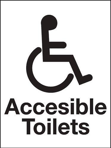 200x150mm Accessible Toilets Washroom sign - Rigid