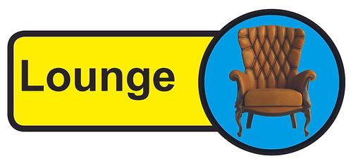 210x480mm Lounge Dementia Sign