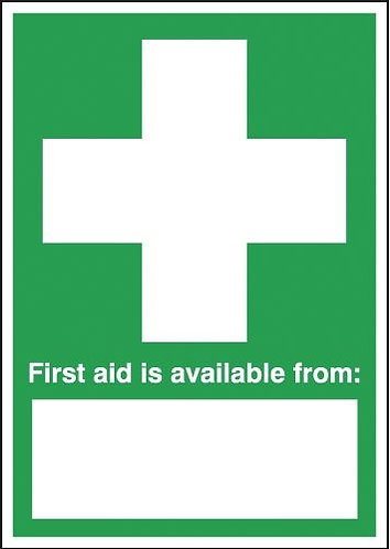 210x148mm First Aid Is Available From - Rigid
