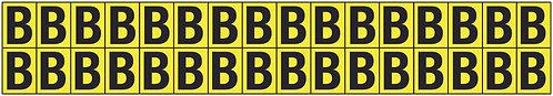 19x14mm Vinyl Cloth Letters Card B