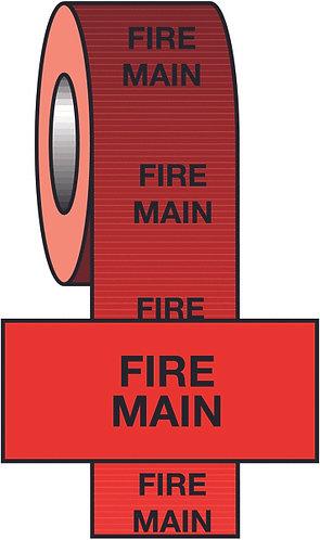 150mmx33m Fire Main BS Pipeline Marking & Identification Tape