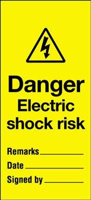 110x50mm Danger electric shock risk Maintenance Safety Tag
