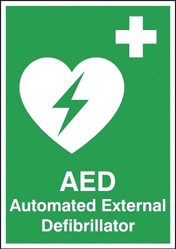 210x148mm Automated External Defibrillator - Rigid
