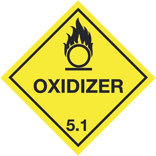 100x100mm Oxidizer Hazard Warning Diamonds