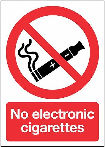 210x148mm No Electronic Cigarettes - Rigid