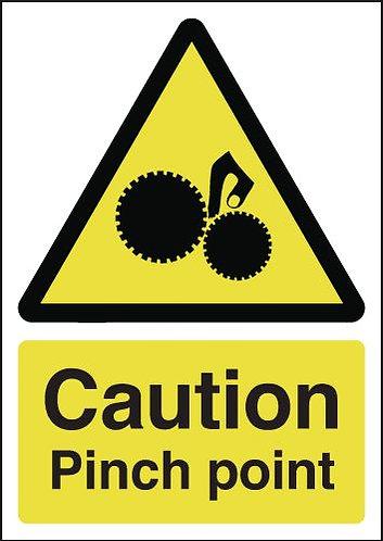 210x148mm Caution Pinch Point - Rigid
