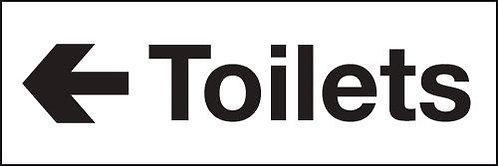 100x300mm Toilets arrow left - Self Adhesive