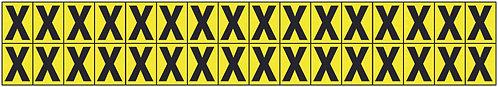 19x14mm Vinyl Cloth Letters Card X