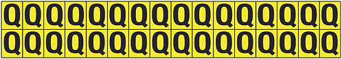 19x14mm Vinyl Cloth Letters Card Q