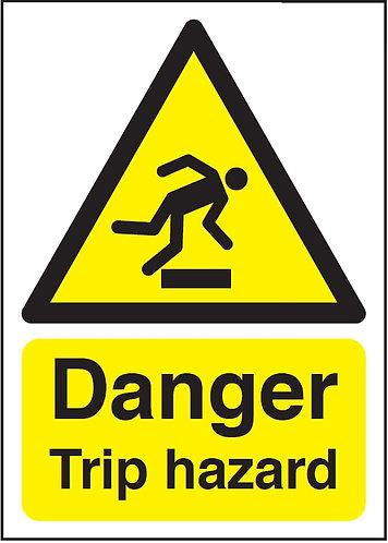 210x148mm Danger Trip Hazard - Rigid