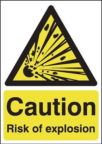 210x148mm Caution Risk of Explosion - Rigid